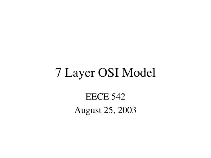 7 layer osi model