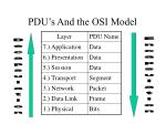 pdu s and the osi model