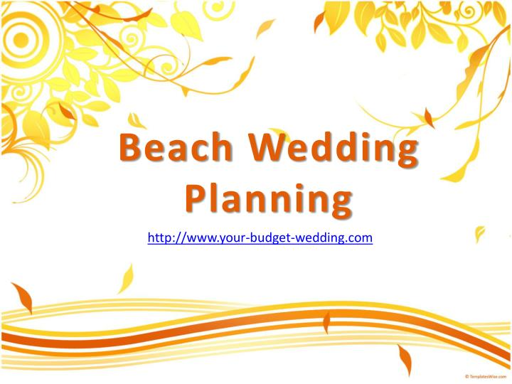 Beach wedding planning
