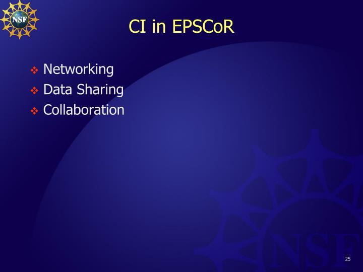 CI in EPSCoR