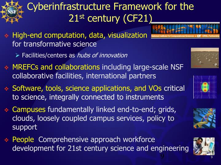 Cyberinfrastructure Framework for the 21