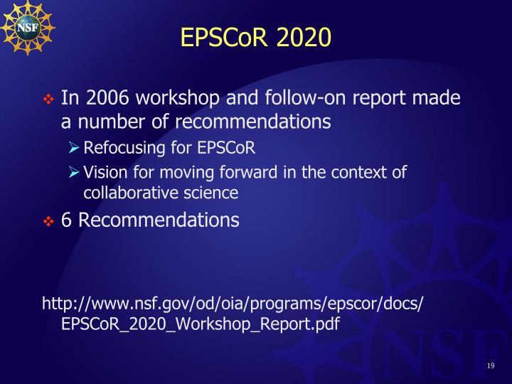 EPSCoR 2020