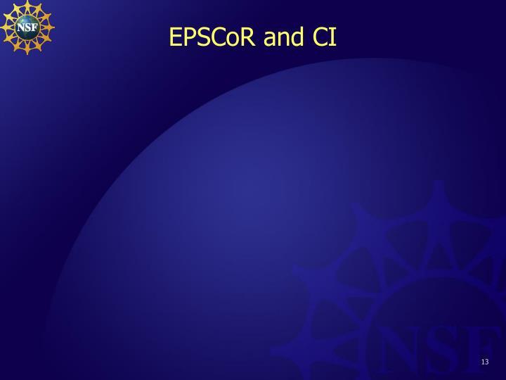 EPSCoR and CI