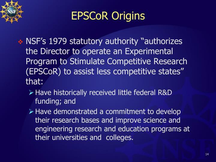 EPSCoR Origins