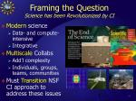 framing the question science has been revolutionized by ci
