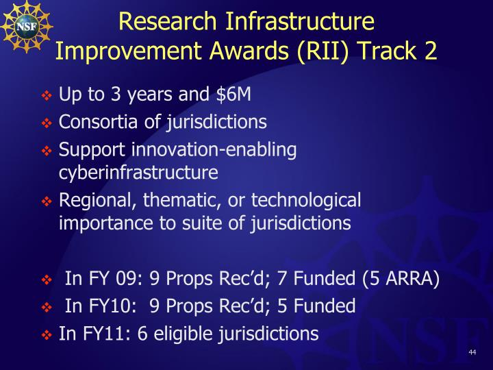 Research Infrastructure Improvement Awards (RII) Track 2