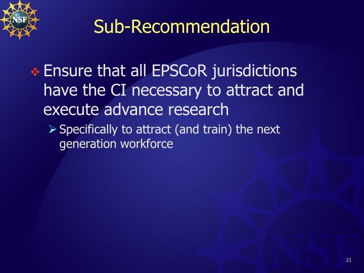 Sub-Recommendation