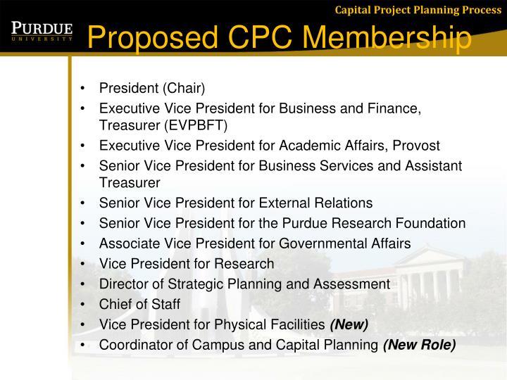 Proposed CPC Membership