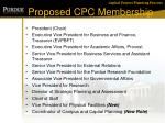 proposed cpc membership