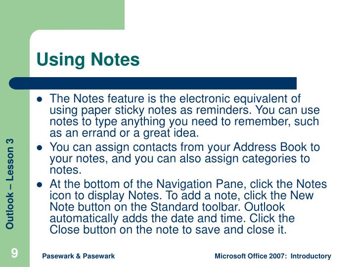 Using Notes