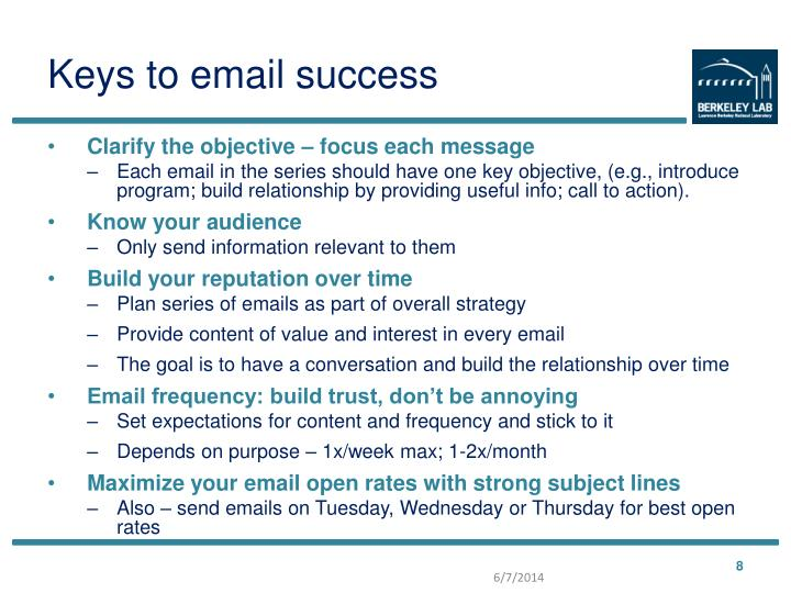 Keys to email success