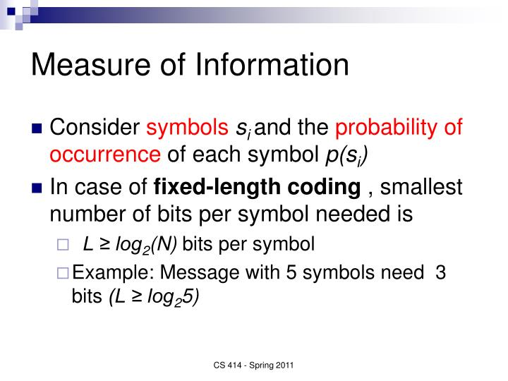 Measure of Information