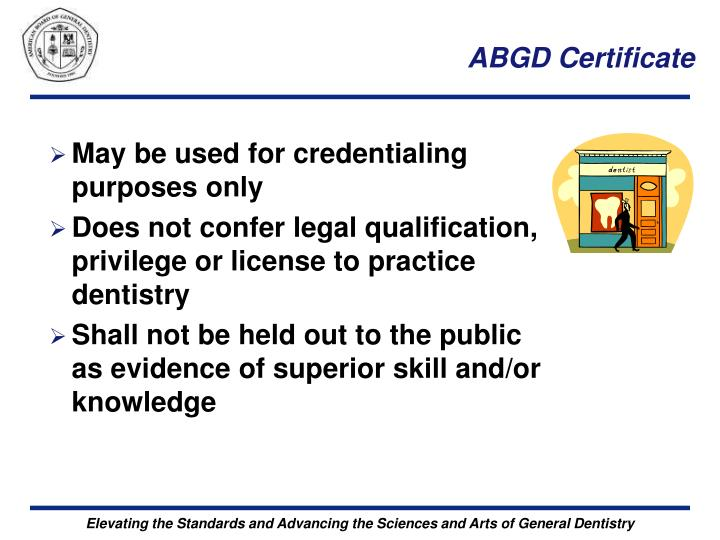 ABGD Certificate
