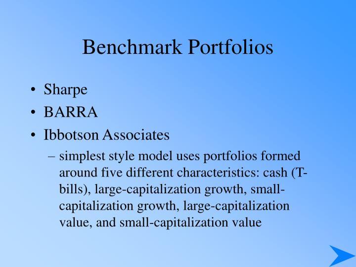 Benchmark Portfolios