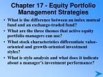chapter 17 equity portfolio management strategies1