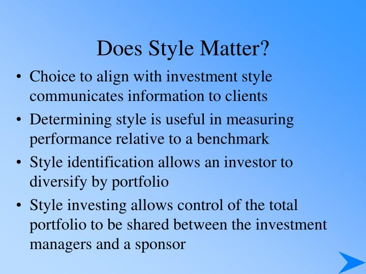 Does Style Matter?