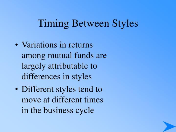 Timing Between Styles