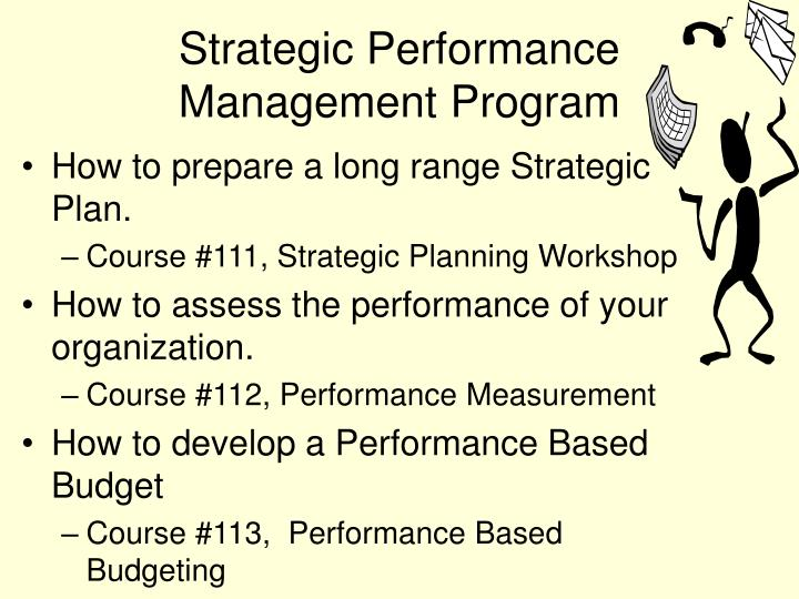 Strategic Performance Management Program