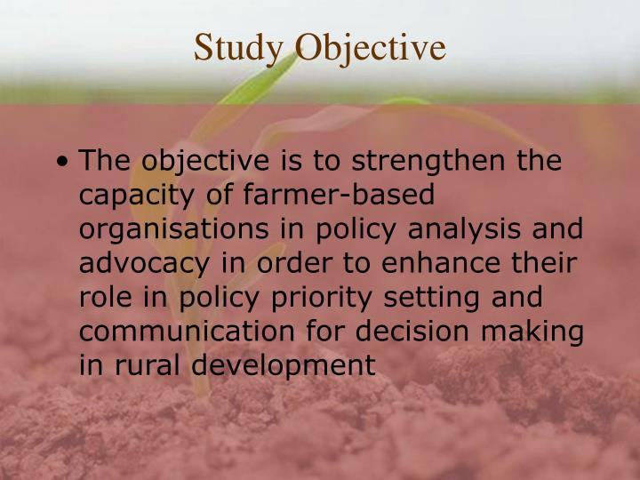 Study Objective