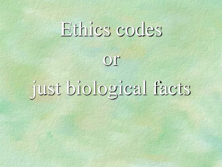 Ethics codes