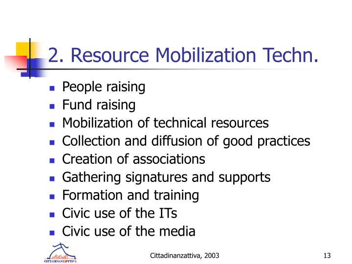 2. Resource Mobilization Techn.