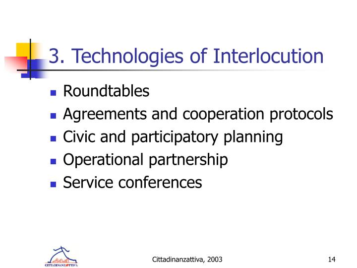 3. Technologies of Interlocution