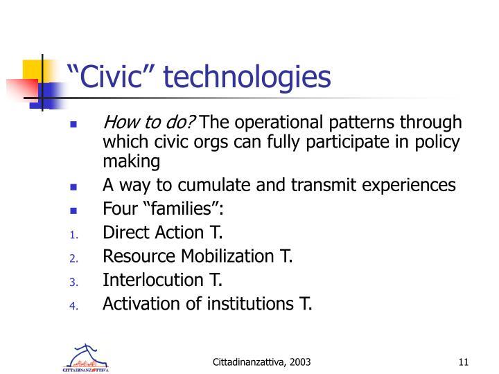 """Civic"" technologies"