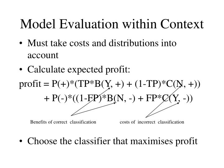 Must take costs and distributions into account
