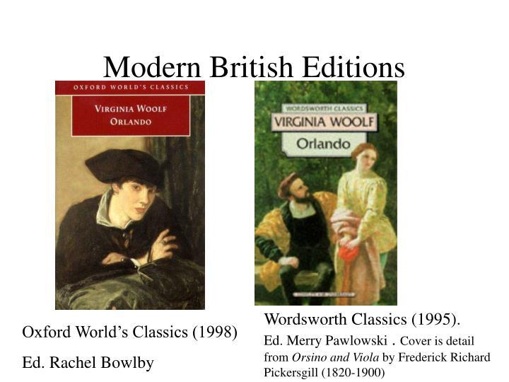 Modern British Editions