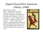 signet classic new american library 1960