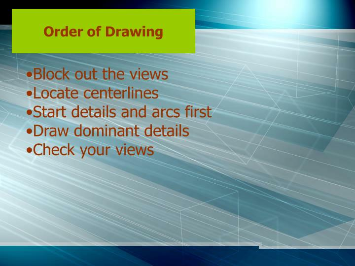 Order of Drawing