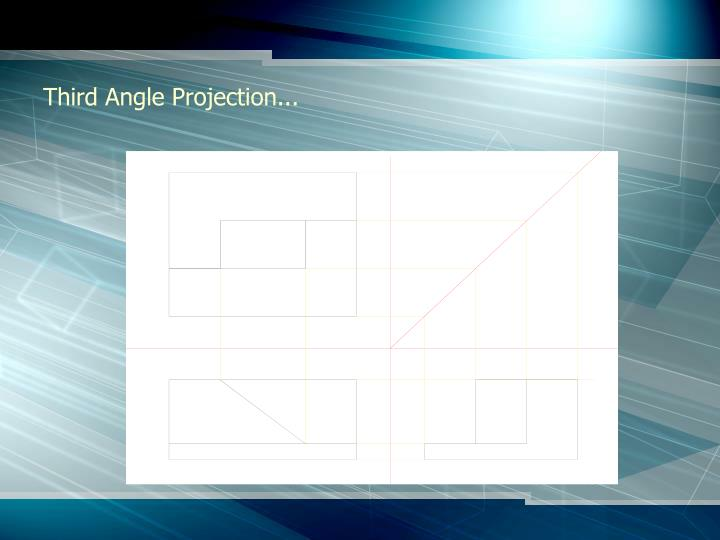 Third Angle Projection...
