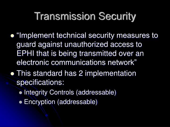 Transmission Security