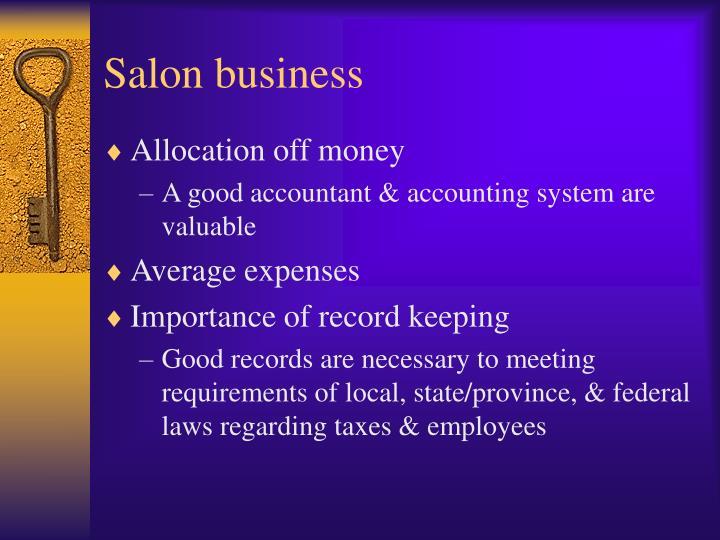 Salon business