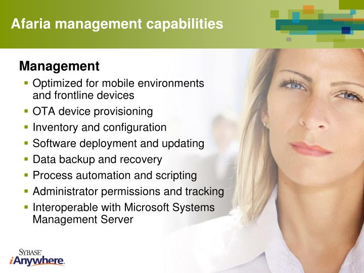Afaria management capabilities