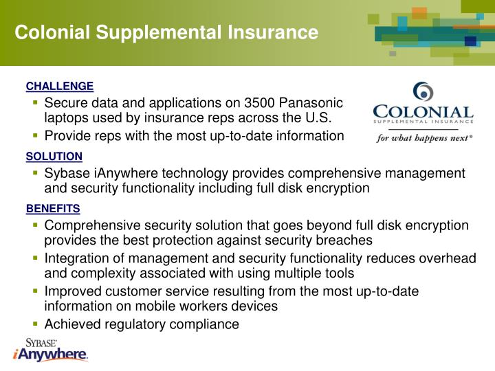Colonial Supplemental Insurance