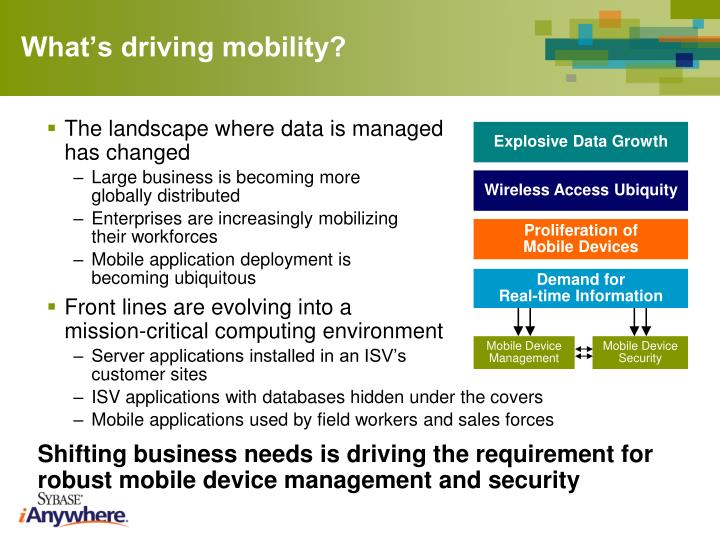 What's driving mobility?