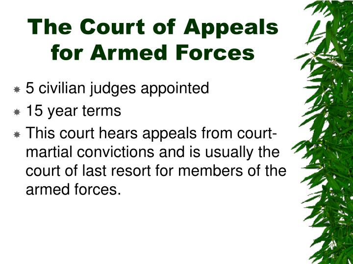 The Court of Appeals for Armed Forces