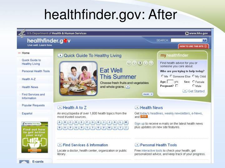 healthfinder.gov: After
