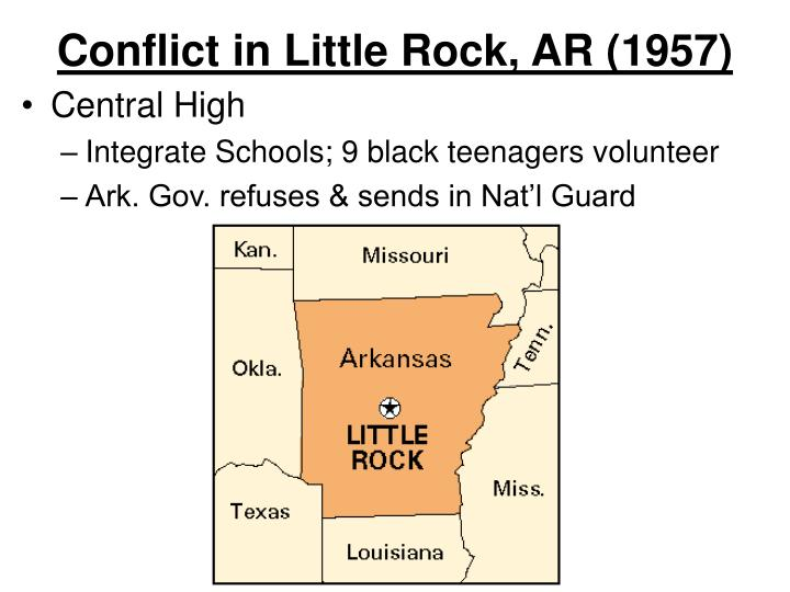 Conflict in Little Rock, AR (1957)