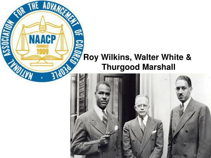 Roy Wilkins, Walter White &
