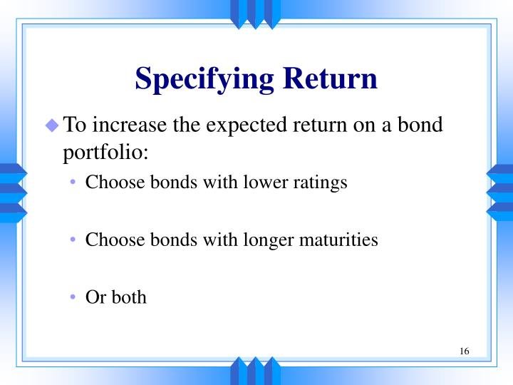 Specifying Return