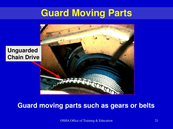 Guard Moving Parts