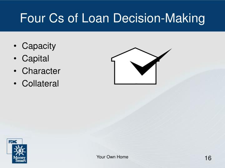 Four Cs of Loan Decision-Making