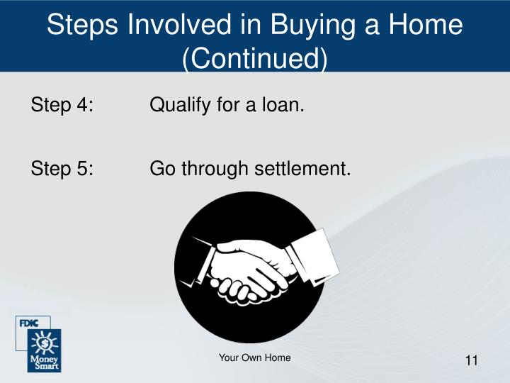 Steps Involved in Buying a Home (Continued)