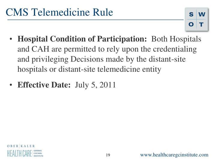 CMS Telemedicine Rule