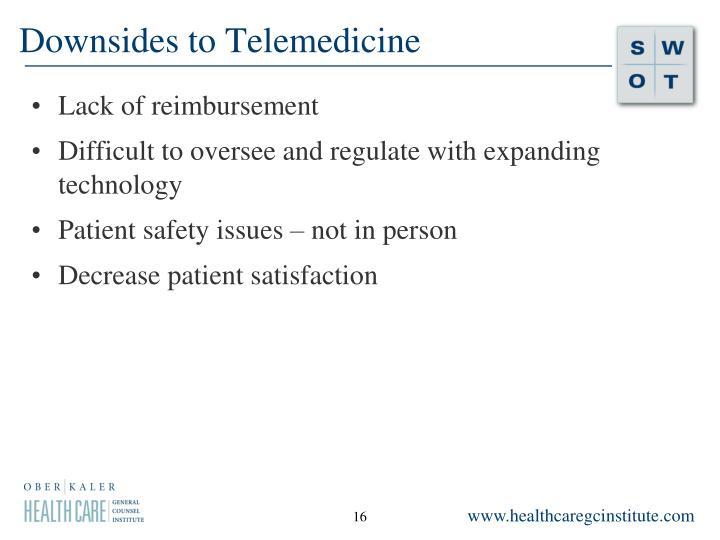 Downsides to Telemedicine