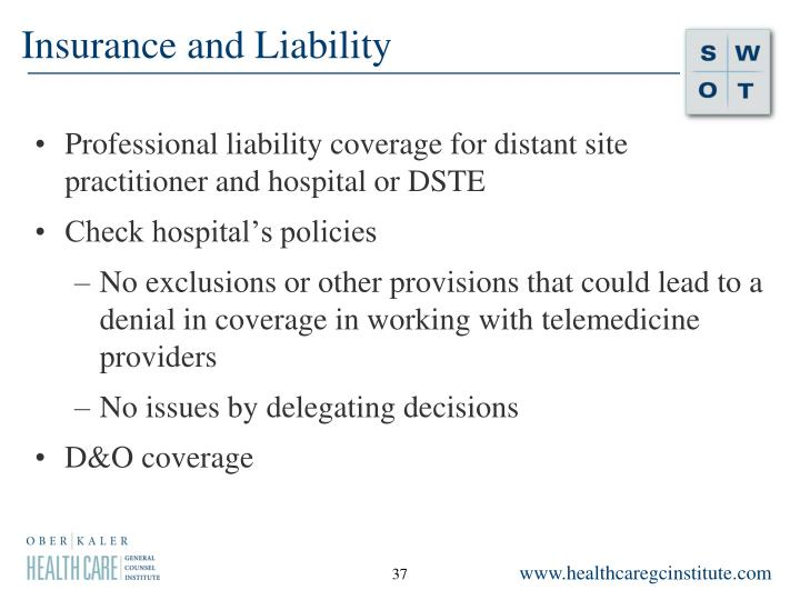 Insurance and Liability