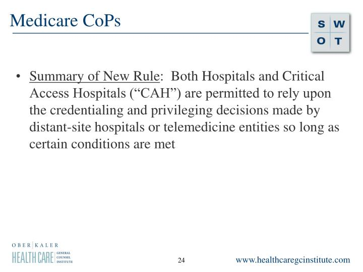 Medicare CoPs