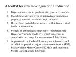 a toolkit for reverse engineering induction1